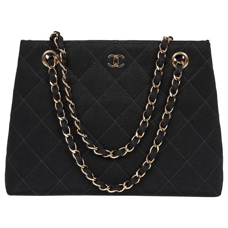 CHANEL Vintage Black Fabric Bag
