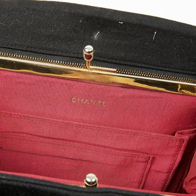 CHANEL Vintage Black Jersey Bag For Sale 6