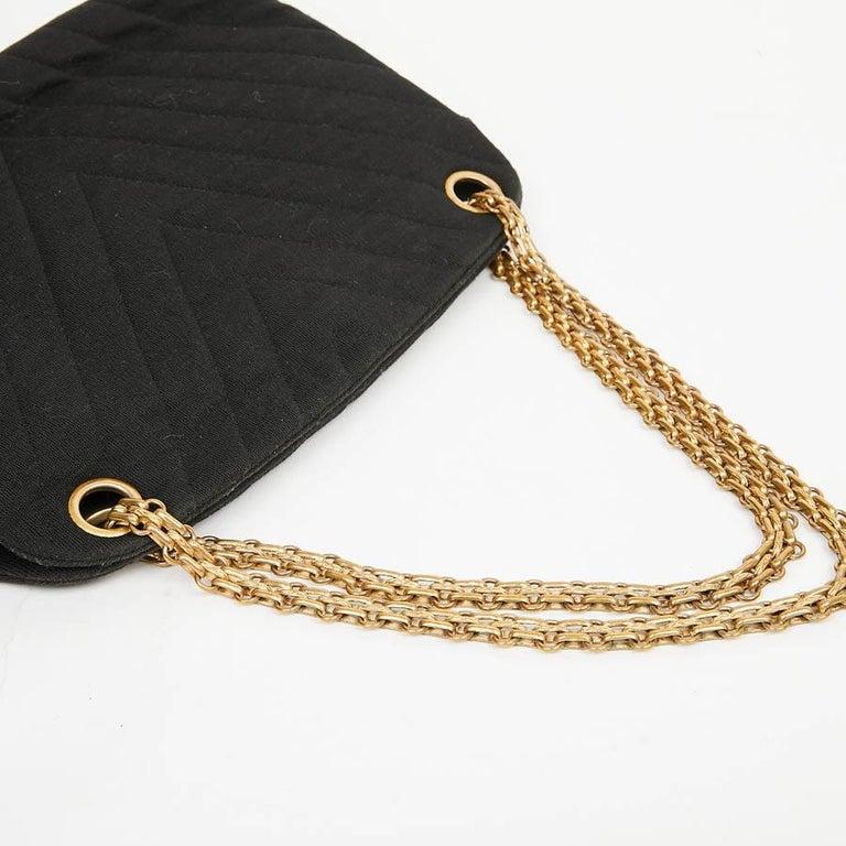 Women's CHANEL Vintage Black Jersey Bag For Sale