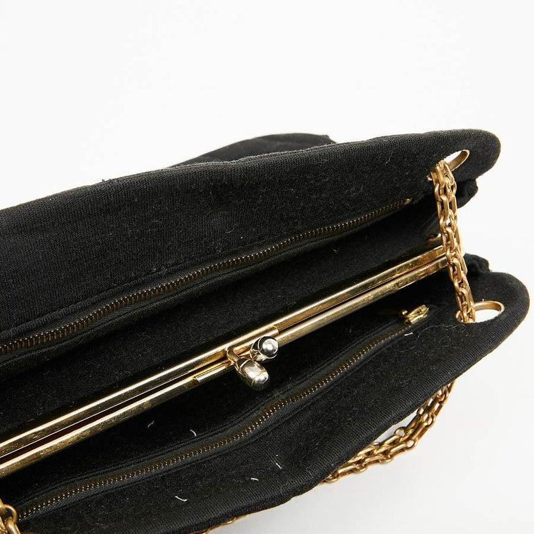 CHANEL Vintage Black Jersey Bag For Sale 4
