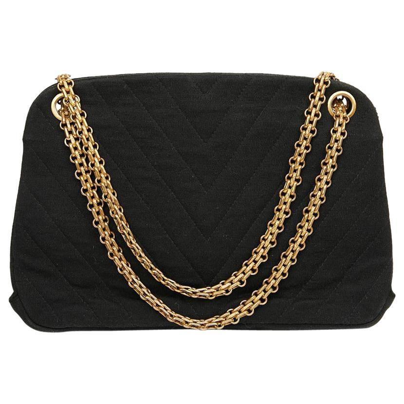 CHANEL Vintage Black Jersey Bag