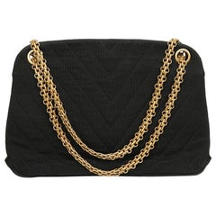 CHANEL Vintage Black Jersey Bag