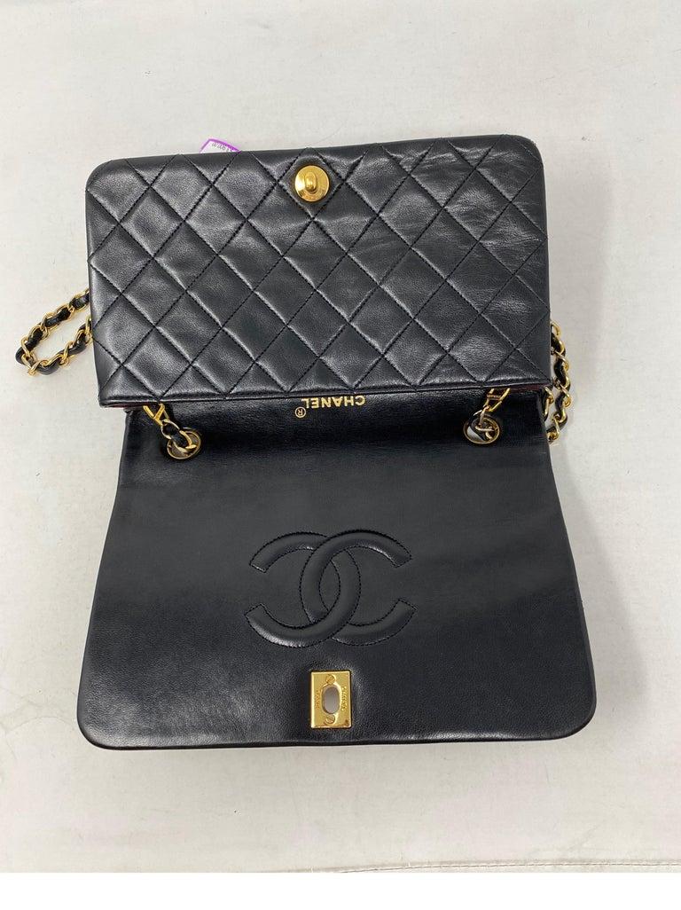 Chanel Vintage Black Leather Bag  6