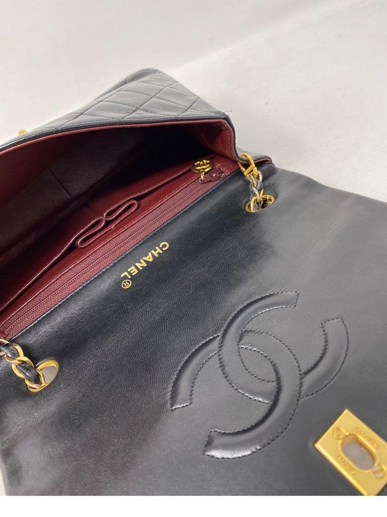 Chanel Vintage Black Leather Bag  7