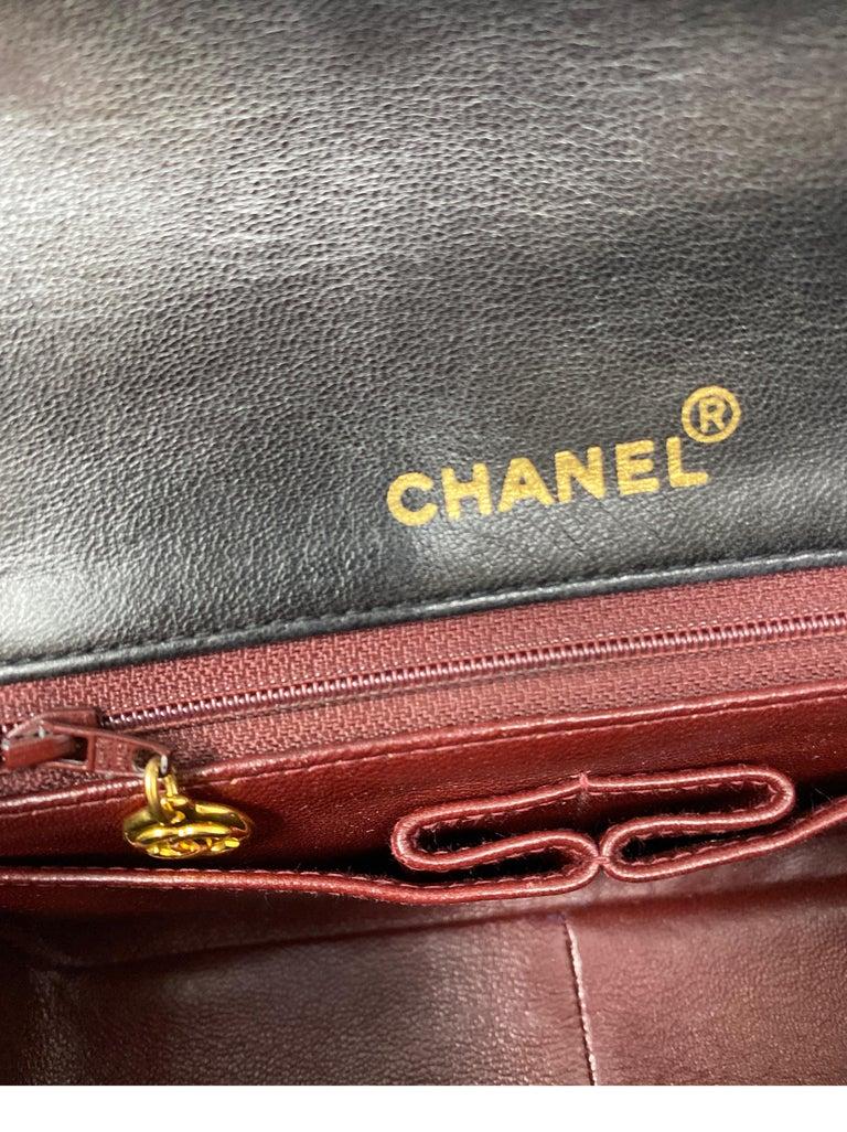 Chanel Vintage Black Leather Bag  9