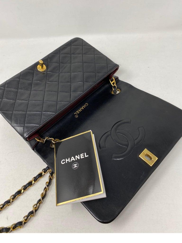 Chanel Vintage Black Leather Bag  10