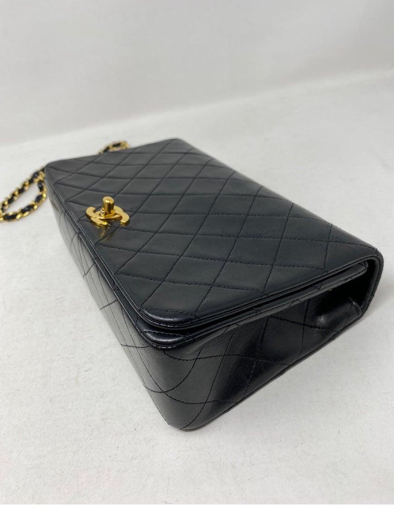 Chanel Vintage Black Leather Bag  1