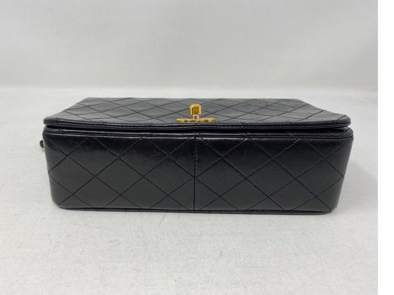 Chanel Vintage Black Leather Bag  2
