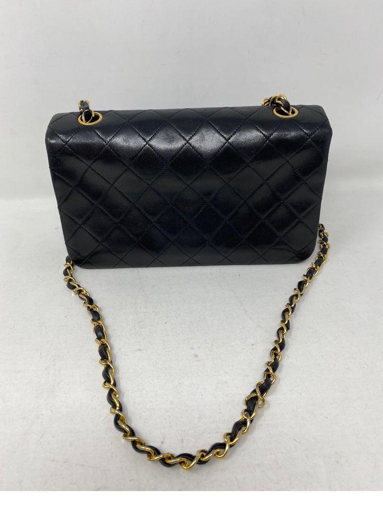 Chanel Vintage Black Leather Bag  4