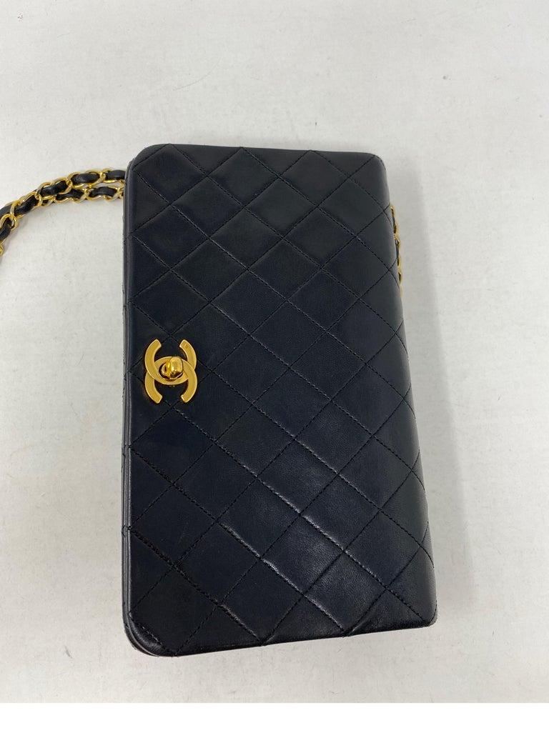 Chanel Vintage Black Leather Bag  5