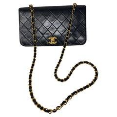 Chanel Vintage Black Leather Bag