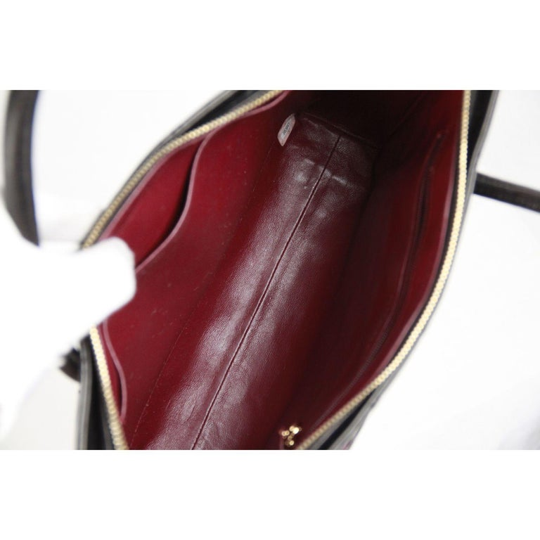 Chanel Vintage Black Quilted Handbag Satchel with Exterior Pockets 7
