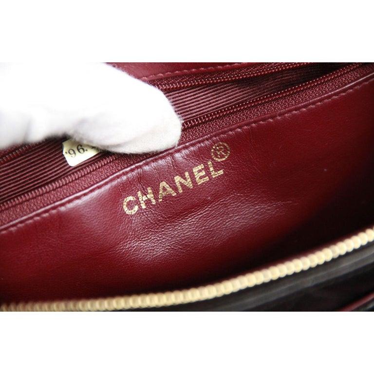 Chanel Vintage Black Quilted Handbag Satchel with Exterior Pockets 10