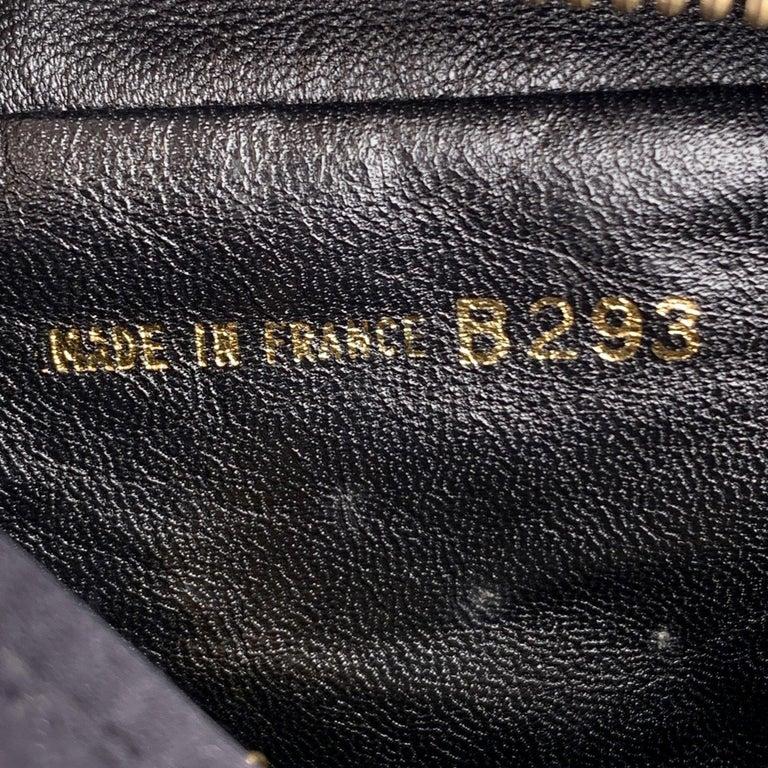 Chanel Vintage Black Quilted Satin Crossbody Camera Bag For Sale 4