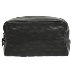 CHANEL Vintage Black Toiletry Bag