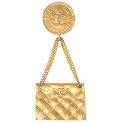 Chanel Vintage Brooch Quilted Handbag Circa 1980s 31 Rue Cambon