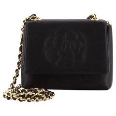 Chanel Vintage Camellia Flap Bag Satin