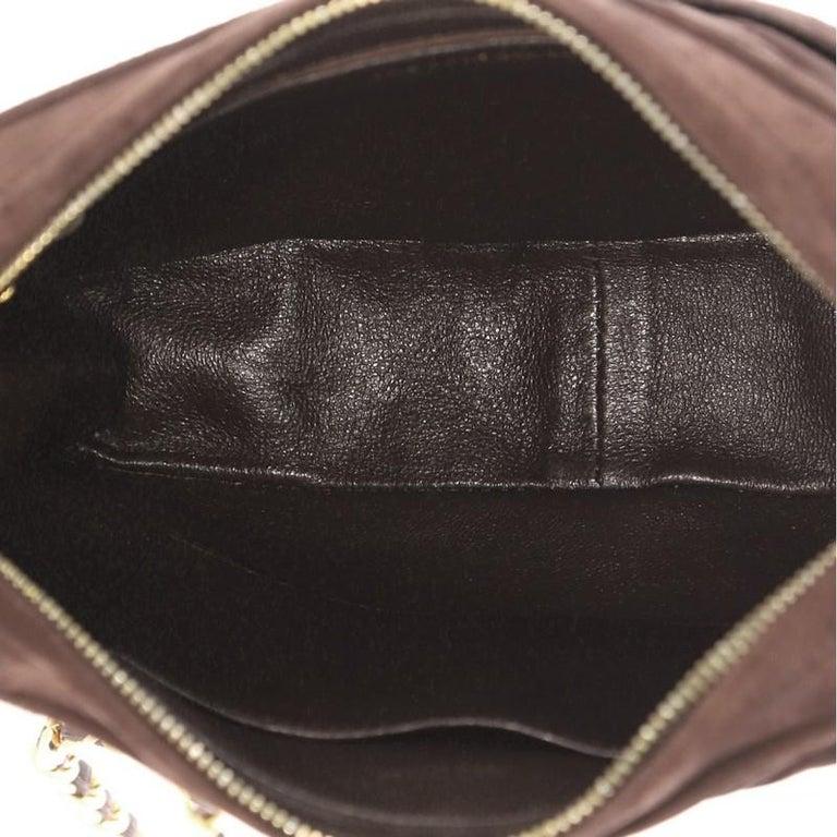 12848460934e Chanel Vintage Camera Bag Chevron Suede Small For Sale 1