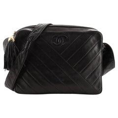 Chanel Vintage Camera Tassel Bag Chevron Lambskin Small