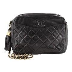 Chanel Vintage Camera Tassel Bag Quilted Leather Medium
