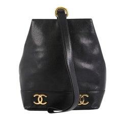 Chanel Vintage CC Bucket Shoulder Bag Caviar Small
