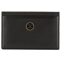 Chanel Vintage CC Button Classic Card Holder Leather
