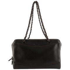 Chanel Vintage CC Chain Bowler Bag Calfskin Medium