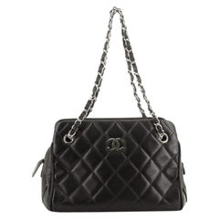 Chanel Vintage CC Chain Bowling Bag Quilted Lambskin Medium