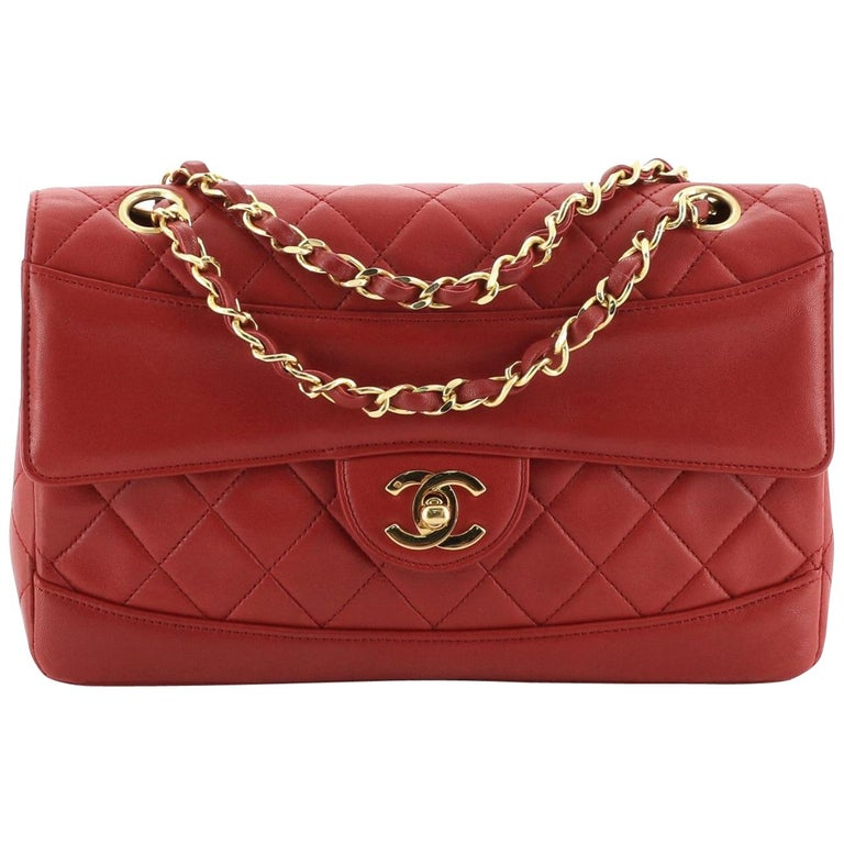 Chanel Vintage CC Chain Flap Bag Quilted Lambskin Small