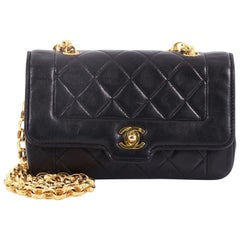 Chanel Vintage CC Chain Flap Bag Quilted Leather Mini