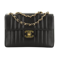 Chanel Vintage CC Chain Flap Bag Vertical Quilt Caviar Maxi