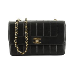 Chanel Vintage CC Chain Flap Bag Vertical Quilt Lambskin Small