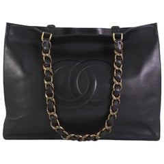 Chanel Vintage CC Chain Tote Lambskin XL