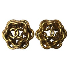 Chanel Vintage CC Clip-On Earrings