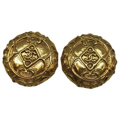CHANEL Vintage CC Clips Earrings