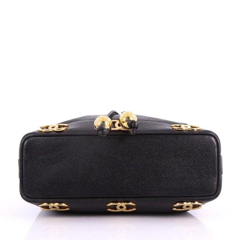 Women s Chanel Vintage CC Drawstring Bucket Bag Caviar Medium For Sale 721a3f96d6