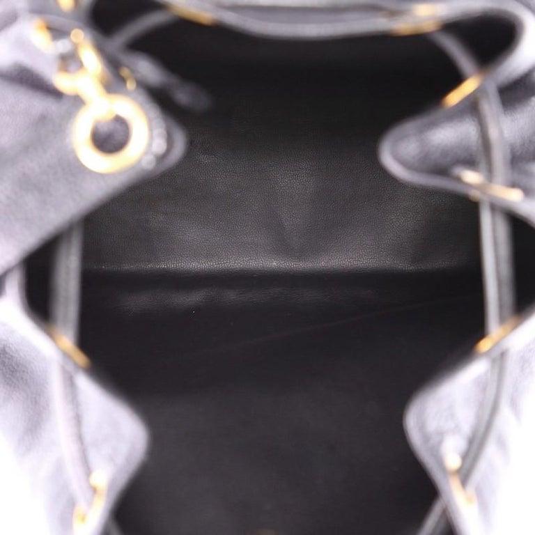 Chanel Vintage CC Drawstring Bucket Bag Caviar Medium at 1stdibs 6a4db47101