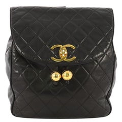 Chanel Vintage CC Flap Backpack Quilted Lambskin Medium