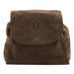 Chanel Vintage CC Flap Backpack Suede Medium