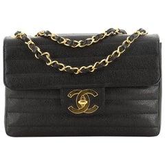 Chanel Vintage CC Flap Bag Horizontal Quilt Caviar Jumbo