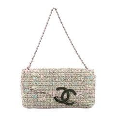 Chanel Vintage CC Flap Bag Tweed Medium