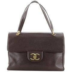 Chanel Vintage CC Flap Shoulder Bag Caviar XL
