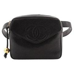 Chanel Vintage CC Flap Waist Bag Caviar Medium