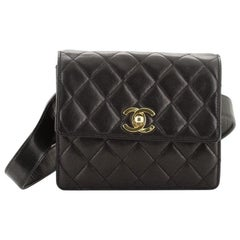 Chanel Vintage CC Flap Waist Bag Quilted Leather Small