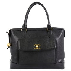 Chanel Vintage CC Front Pocket Briefcase Caviar