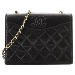 Chanel Vintage CC Full Flap Bag Quilted Lambskin Small