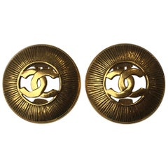 "Chanel Vintage ""CC"" Logo Clip Ons"