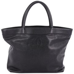 Chanel Vintage CC Open Tote Caviar Large