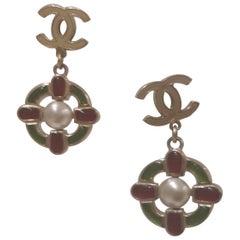 Chanel Vintage CC Pendant Earrings