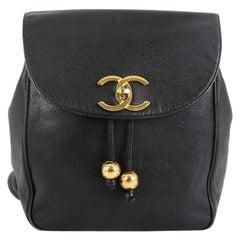 Chanel Vintage CC Pocket Backpack Caviar Small